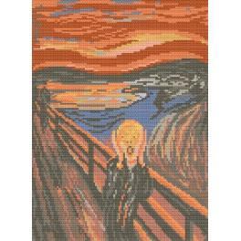 GC 476 Cross stitch pattern - Scream - Edvard Munch