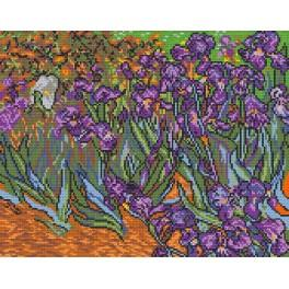 GC 478 Cross stitch pattern - Irises - V. van Gogh