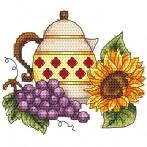 Jug with grape - Cross Stitch pattern