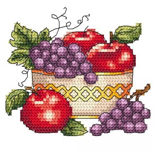 Bowl with apples - Cross Stitch pattern