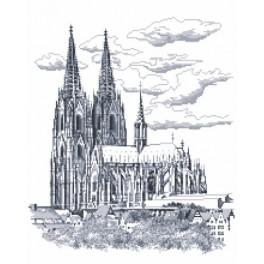 Cologne Cathedral - Cross Stitch pattern