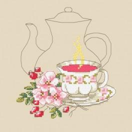 Rose tea - Cross Stitch pattern