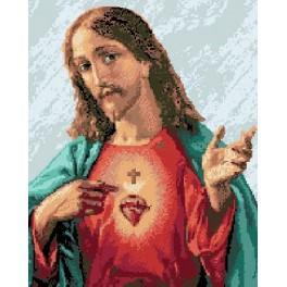 Immaculate Heart of Jesus - Cross Stitch pattern