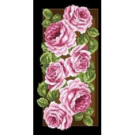 Roses in the panel - Cross Stitch pattern