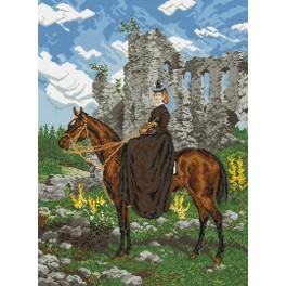 Horsewoman - Cross Stitch pattern