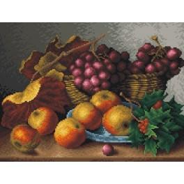 Still life - red grapes - Cross Stitch pattern