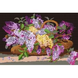 Basket of lilacs - Cross Stitch pattern