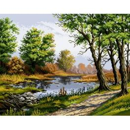 P. Gwozdziewicz - Oaks at the backwater - Cross Stitch pattern