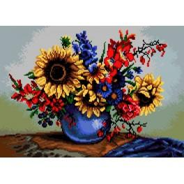 Sunflowers in a Vase - Cross Stitch pattern