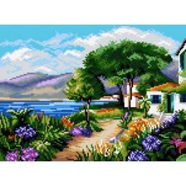 Landscape - Croatia - Cross Stitch pattern