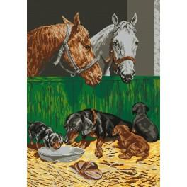 In the stable - Cross Stitch pattern