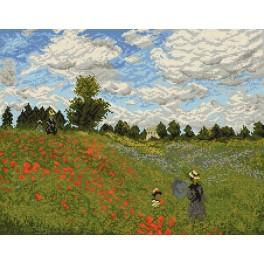 Claude Monet - Poppies near Argenteuil - Cross Stitch pattern