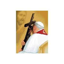 John Paul II - Cross Stitch pattern