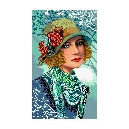 Woman with a hat - Cross Stitch pattern