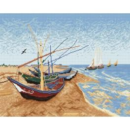 V. van Gogh - Barges on the Beach - Cross Stitch pattern