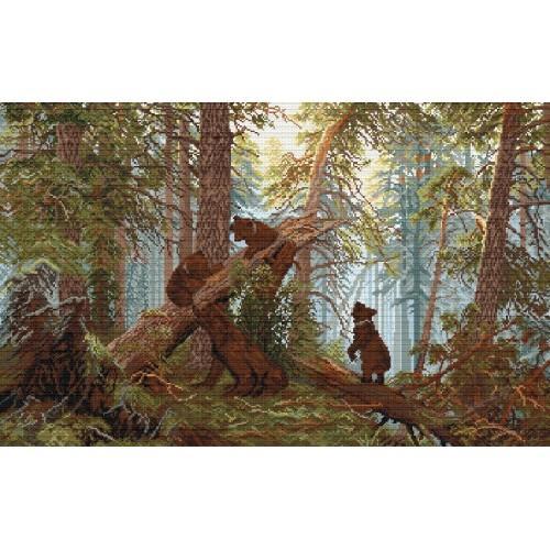 Ivan Shishkin - Morning in a Pine Forest - Cross Stitch pattern