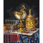 Golden dishes - Cross Stitch pattern