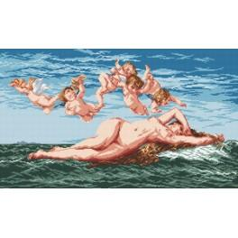The Birth of Venus - A. Cabanel - Cross Stitch pattern