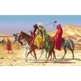 Arabs Crossing The Desert - Jean-Leon Gerome - Cross Stitch pattern