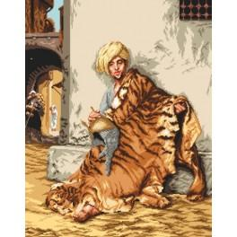 Pelt Marchant of Cairo - Jean-Leon Gerome - Cross Stitch pattern