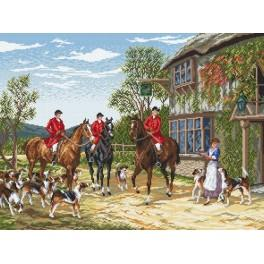 Before hunting - H. Hardy - Cross Stitch pattern