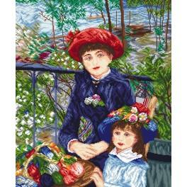 Two Sisters - Pierre August Renoir - Cross Stitch pattern