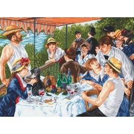 Oarsmen's breakfast - A. Renoir - Cross Stitch pattern