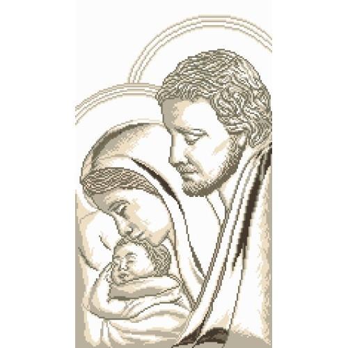 Joseph, Mary and child - Cross Stitch pattern