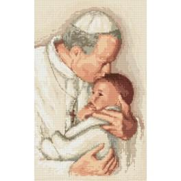 Pope John Paul II - Cross Stitch pattern