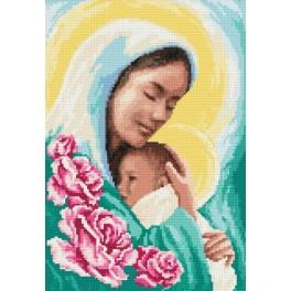 GC 8214 Mother Mary with a child - Cross Stitch pattern