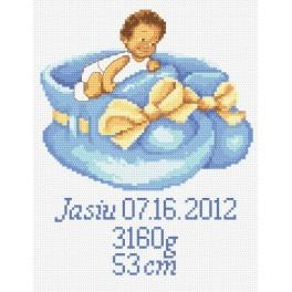 GC 8248 Cross stitch pattern - Birth certificate for boy