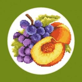 Tempting peaches - Cross Stitch pattern