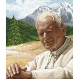 John Paul II - Reflection - Cross Stitch pattern