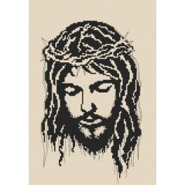 Jesus wearing a crown of thorns - Cross Stitch pattern