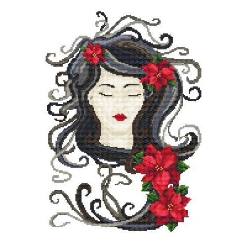 Cold Lady - Cross Stitch pattern
