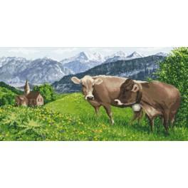 Alpine meadow - Cross Stitch pattern
