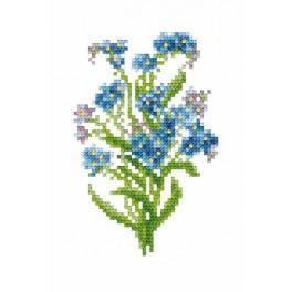 GC 8515 Forget-me-nots - Cross Stitch pattern