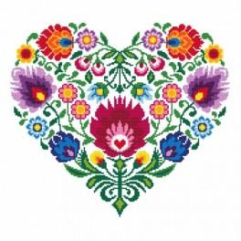 GC 8535 Ethnic heart - Cross Stitch pattern