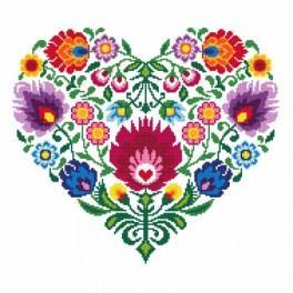 GC 8535 Cross stitch pattern - Ethnic heart