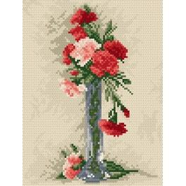 GC 862 Carnations in the vase - Cross Stitch pattern