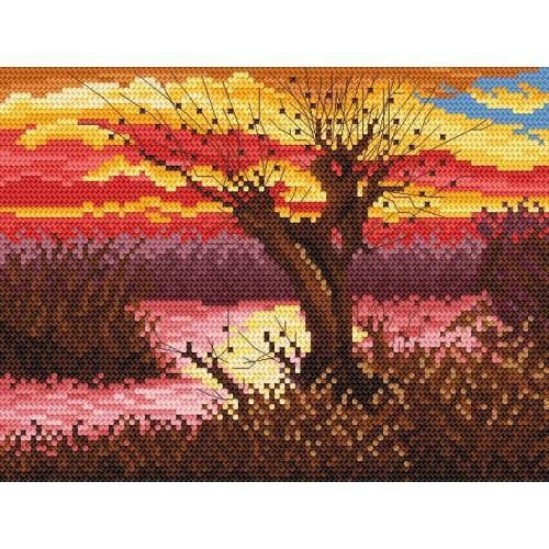 GC 869 Cross stitch pattern - Autumn by the lake