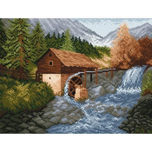 GC 870 Cross stitch pattern - Water-mill