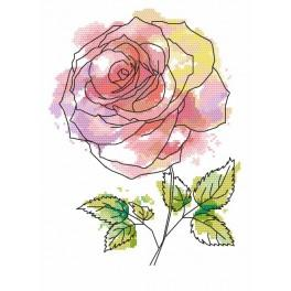 GC 8704 Cross Stitch pattern - Wonderful rose