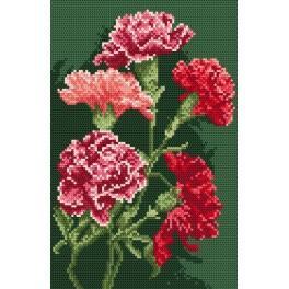 GC 874 Carnations - Cross Stitch pattern