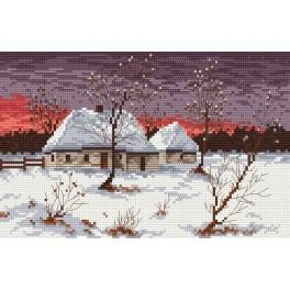 Cottage in winter - Cross Stitch pattern