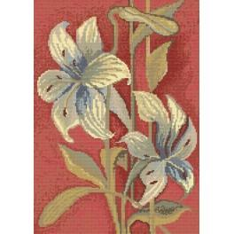 Sky Blue Lillies - Cross Stitch pattern
