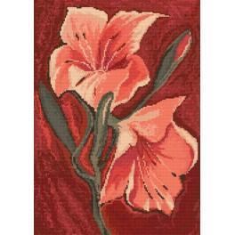 GC 882 Pink Lilies - Cross Stitch pattern