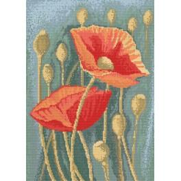 Poppies 2 - Cross Stitch pattern
