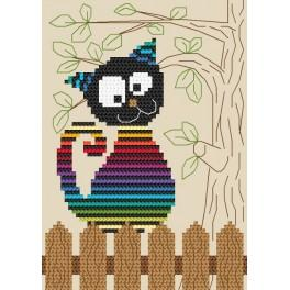 Cross Stitch pattern - Funny cat