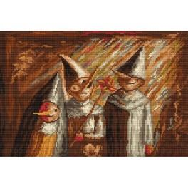 Three children - Cross Stitch pattern
